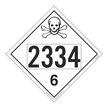 UN#2334 Poison Stock Numbered Placard