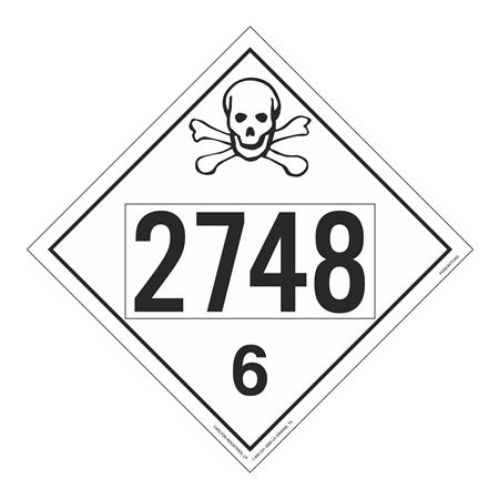 UN#2748 Poison Stock Numbered Placard
