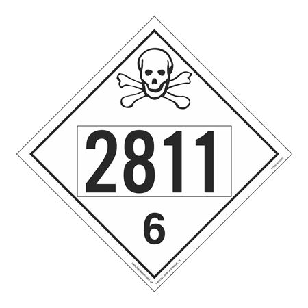 UN#2811 Poison Stock Numbered Placard