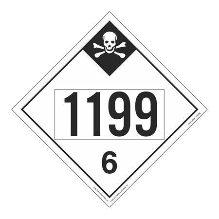 UN#1199 Inhallation Hazard Stock Numbered Placard