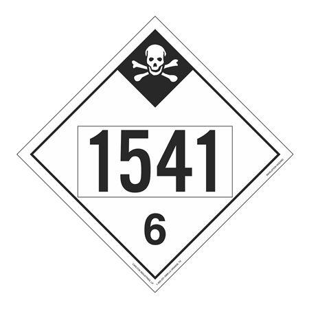 UN#1541 Inhalation Hazard Stock Numbered Placard