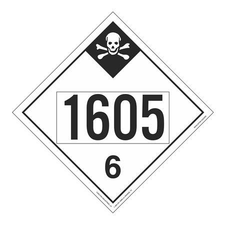 UN#1605 Inhalation Hazard Stock Numbered Placard