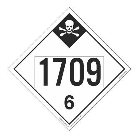 UN#1709 Inhallation Hazard Stock Numbered Placard