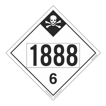 UN#1888 Inhalation Hazard Stock Numbered Placard