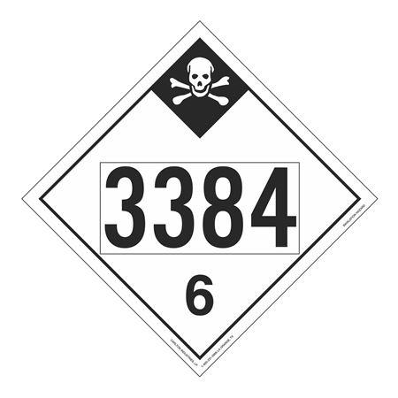 UN#3384 Inhalation Hazard Stock Numbered Placard