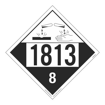 UN#1813 Corrosive Stock Numbered Placard