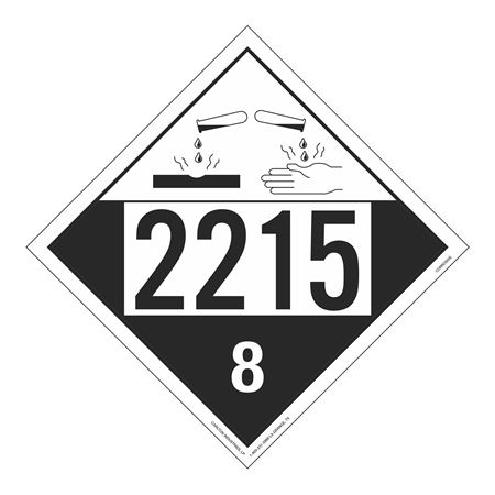 UN#2215 Corrosive Stock Numbered Placard