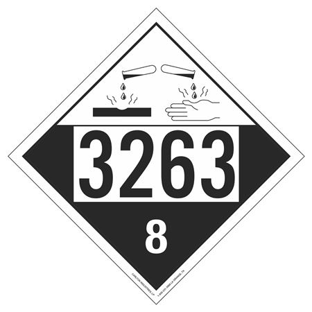 UN#3263 Corrosive Stock Numbered Placard