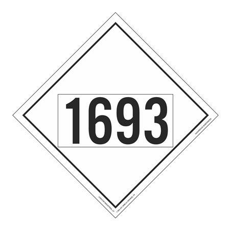 UN#1693 Hazardous Substance Stock Numbered Placard