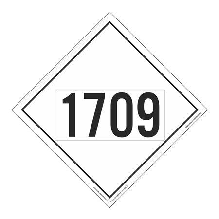 UN#1709 Hazardous Substance Stock Numbered Placard