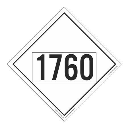 UN#1760 Hazardous Substance Stock Numbered Placard