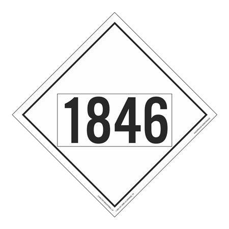 UN#1846 Hazardous Substance Stock Numbered Placard