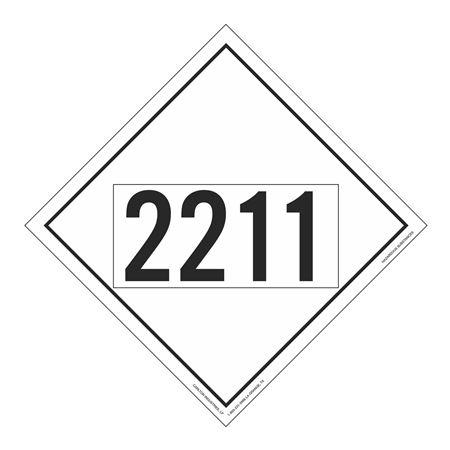 UN#2211 Hazardous Substance Stock Numbered Placard