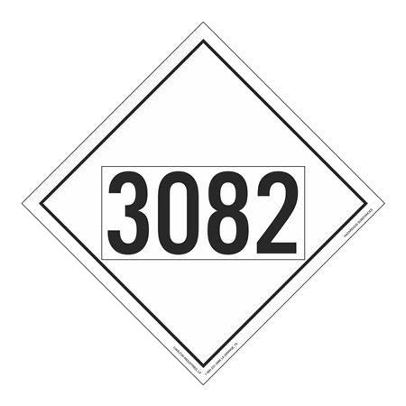 UN#3082 Hazardous Substance Stock Numbered Placard