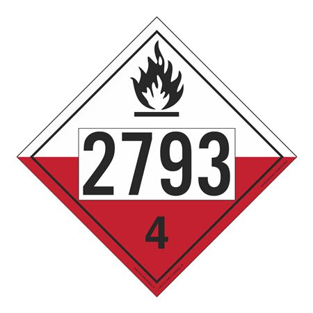 UN#2793 Spontaneously Combustible Numbered Placard
