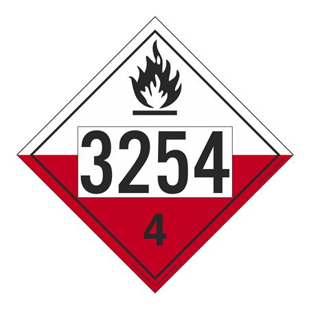 UN#3254 Spontaneously Combustible Numbered Placard