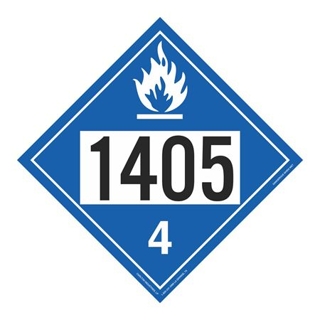 UN#1405 Dangerous When Wet Stock Numbered Placard