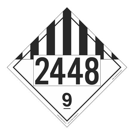 UN#2448 Class 9 Stock Numbered Placard
