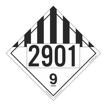 UN#2901 Class 9 Stock Numbered Placard