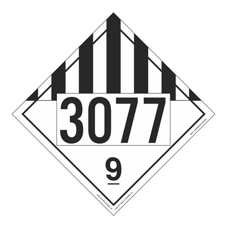 UN#3077 Misc Dangerous Goods Numbered Placard