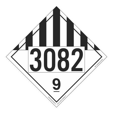 UN#3082 Misc Dangerous Goods Numbered Placard