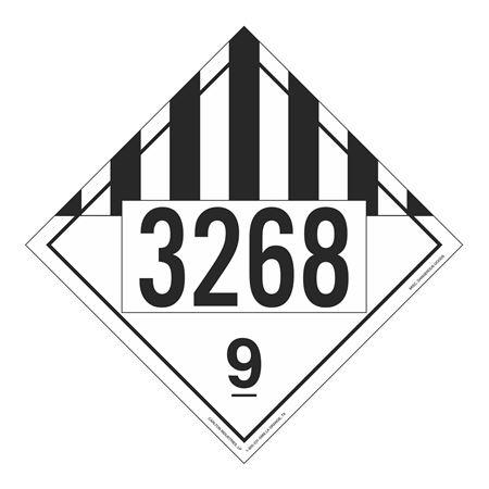 UN#3268 Class 9 Stock Numbered Placard