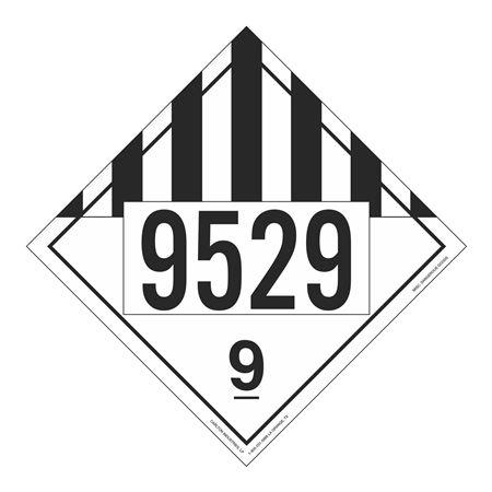 UN#9529 Class 9 Stock Numbered Placard