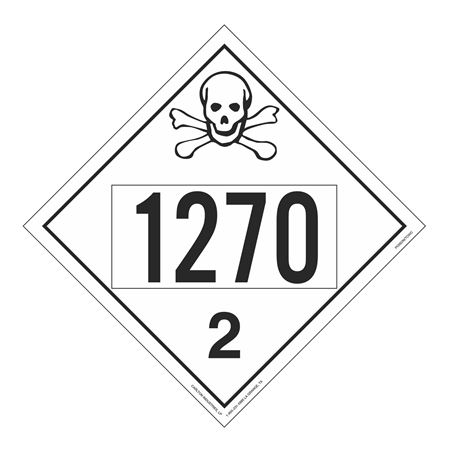 UN#1270 Poison Gas Stock Numbered Placard
