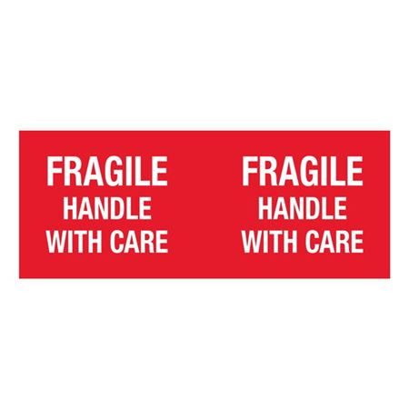 Fragile Handle With Care - 4x10 in