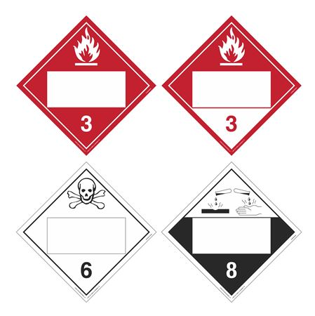 Duo-Flip - Flamm. Combustible Poison/Toxic Corrosive Blank