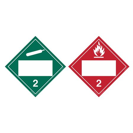 Duo-Flip - Flammable Gas 2, Non Flammable Gas 2, Blank