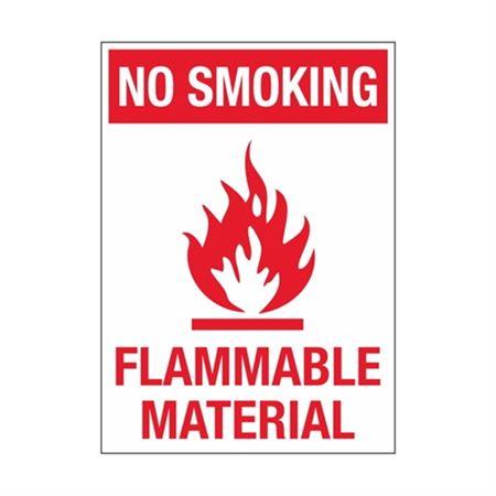 No Smoking Flammable Material Sign