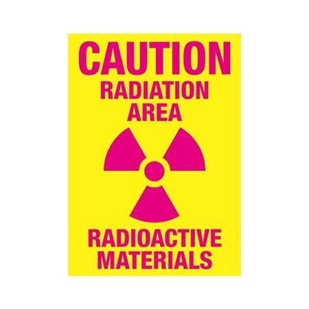 Caution Radiation Area Radioactive Materials Sign