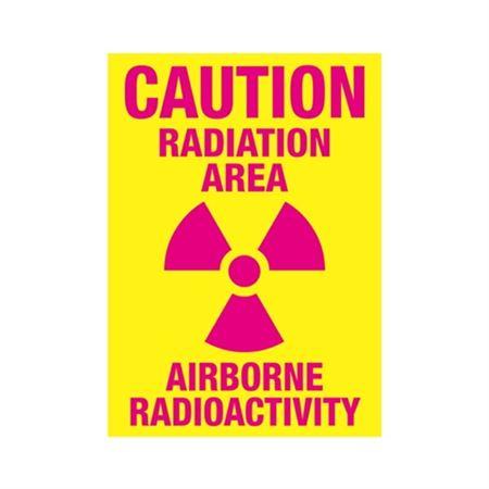 Caution Radiation Area Airborne Radioactivity Sign