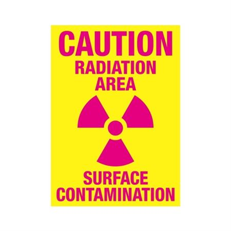 Caution Radiation Area Surface Contamination Sign