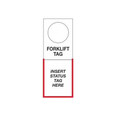 Tag Holders - Forklift 4.5 x 12