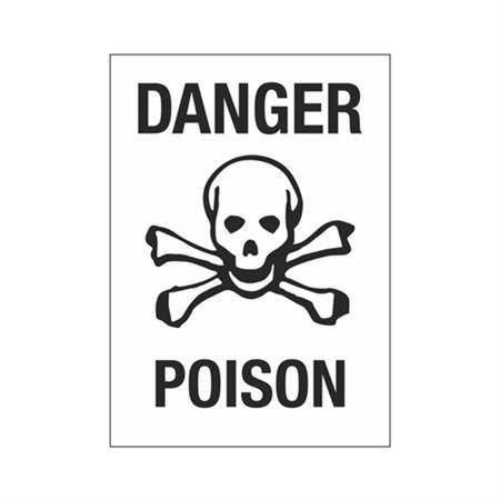 Danger Poison Sign - 10 x 14