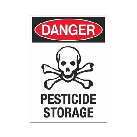 Danger Pesticide Storage Sign