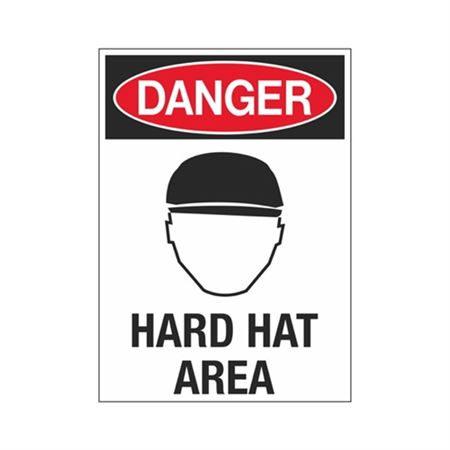 Danger Hard Hat Area Sign - Graphic