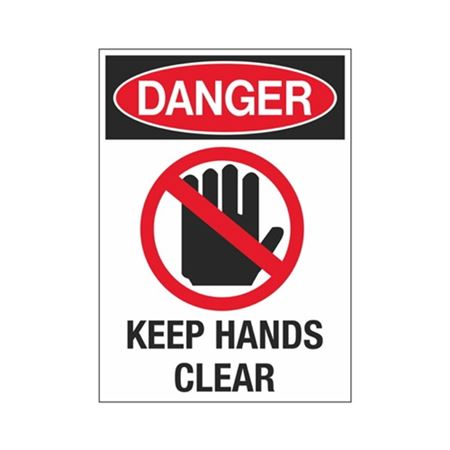 Danger Keep Hands Clear Sign - Graphic