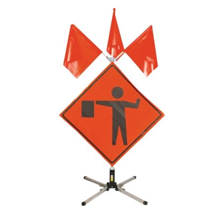 """UniFlex Sign Stand - Base & Mast for 48"""" Signs"""