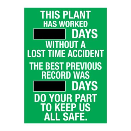 This Plant Has Worked - Steel Scoreboard - 20x28 Inches