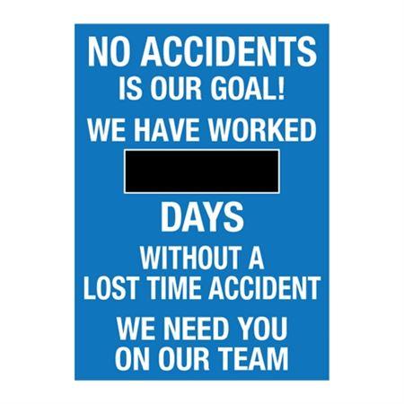 """No Accidents - Steel Scoreboard 20x28"""""""