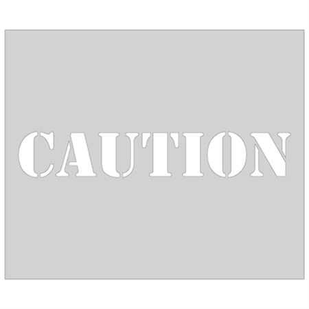 Caution Sign Stencil - 10 in. x 12 in.