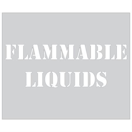 Flammable Liquids Stencil - 10 in. x 12 in.