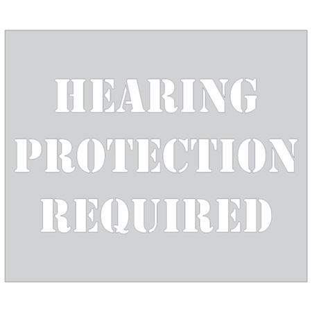 Hearing Protection Required Stencil - 10 x 12