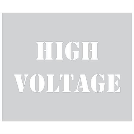 High Voltage Sign Stencil - 10 x 12