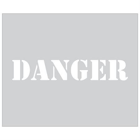 Danger Sign Stencil - 10 x 12