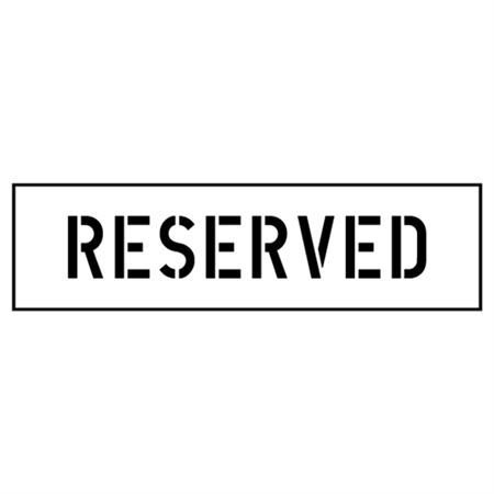 Reserved Parking Stencil - 4 in. x 24 in.