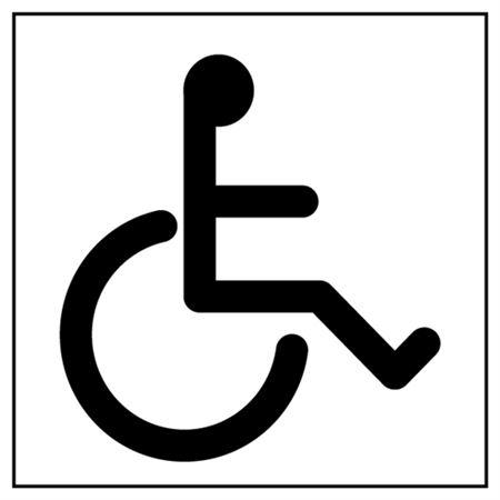 Small Handicap Symbol Stencil - 26.5 in. x 30 in.